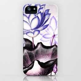 Pink Gray Lavender Sacred Egyptian Bean Temple of Flora iPhone Case