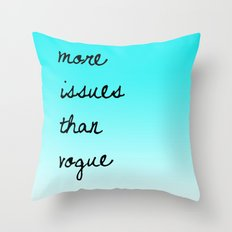 More Issues Than Vogue Throw Pillow