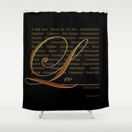 Sign Language for Leo Shower Curtain