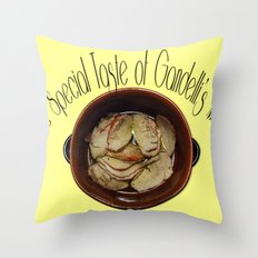 The special taste of Gandelli's meat Throw Pillow