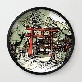 Yoshida Jinja Wall Clock