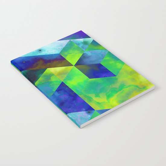 Neon Abstract Notebook