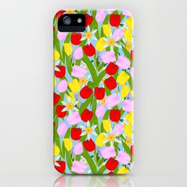 bright spring flowers iPhone Case