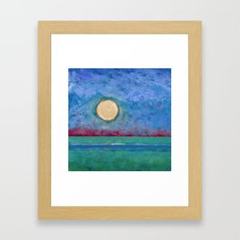 Abstract Landscape IV (Colorized) Framed Art Print