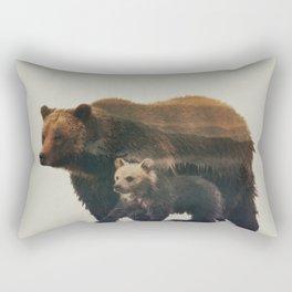 Grizzly & Cub Rectangular Pillow