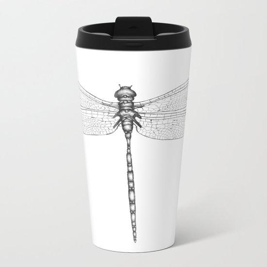 Dragonfly Wings Metal Travel Mug