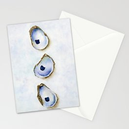Three Oysters Watercolor Print Stationery Cards