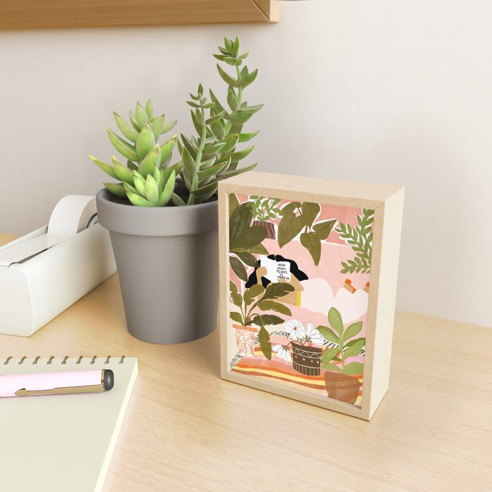 How Many Plants Is Enough Plants? Framed Mini Art Print