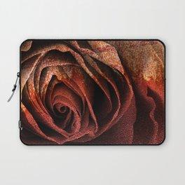 Bleeding Rust Rose Laptop Sleeve