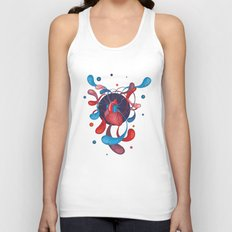 The Bass Heart Unisex Tank Top