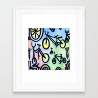 bikes Framed Art Prints featuring Bikes by JustinPotts