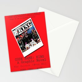"""""""Code Name: King""""  - ALTERNATE Comic Book Promo Poster  Stationery Cards"""