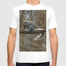 Nuts about You MEDIUM Mens Fitted Tee White