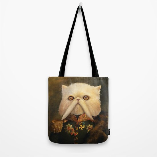 Persian Cat Emperor Tote Bag