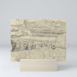 Landscape with Peasant Women Harvesting Mini Art Print