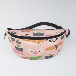 Kawaii sushi light pink Fanny Pack