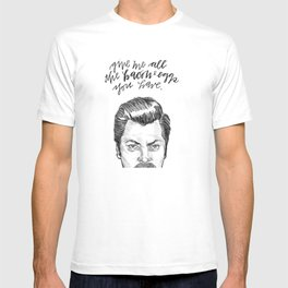 Ron Swanson. [Parks and Recreation] T-shirt