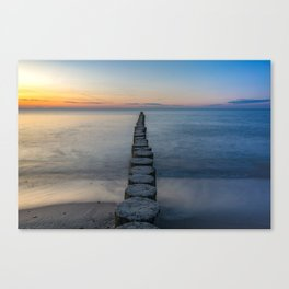 Path Through the Water to the Sunset Canvas Print