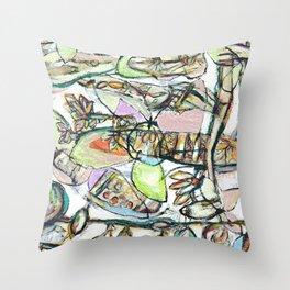 'flower pattern brittmarks 2' Throw Pillow