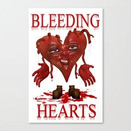 Bleeding Hearts .. gothic fantasy Canvas Print