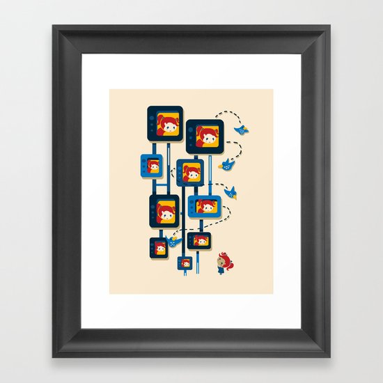 Me, Myself, and Some Birds Framed Art Print