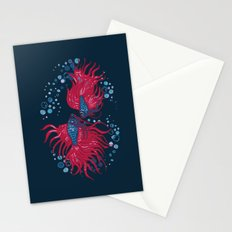 Fighting fish Stationery Cards