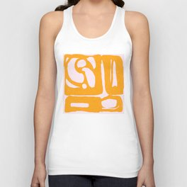 Abstract in Yellow and Cream Unisex Tank Top