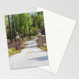 Gated Road In The Woods Stationery Cards