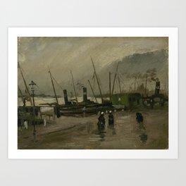 The De Ruijterkade in Amsterdam Art Print