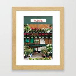 Paris Flower Market Framed Art Print