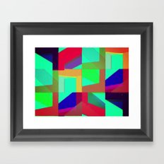 Colorful Truth. Green. Framed Art Print