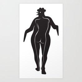 Woman Chick Art Print