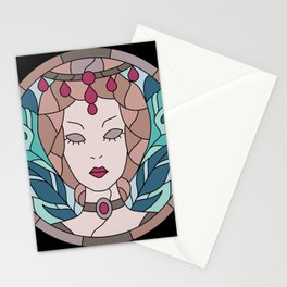 Countess Bathory - Stained Glass Stationery Cards