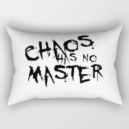 Chaos Has No Master Black Graffiti Text Rectangular Pillow