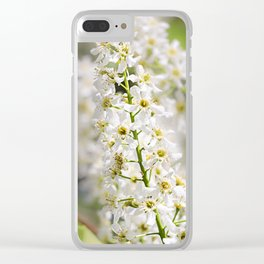 White brush of cherry. Clear iPhone Case
