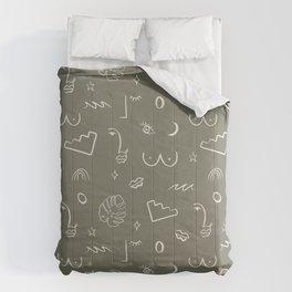 Doodle Play Line Work Comforters