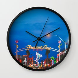 Las Vegas Fremont Street Downtown Wall Clock