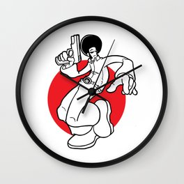 AfroVince Red Wall Clock