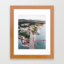 "Golden Gate Bridge San Francisco: ""I rise above"" Framed Art Print"