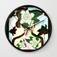 window Wall Clocks featuring WINDOW by Lorenza Bluetiz