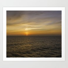 Morning at sea Art Print