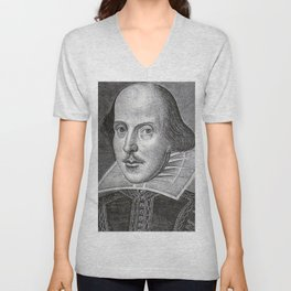 William Shakespeare Unisex V-Neck