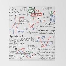 Math Cheat Sheet Throw Blanket
