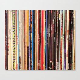 Indie Rock Vinyl Records Canvas Print