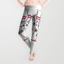 Funny Bruised Bowling Pins For Bowling Player Leggings