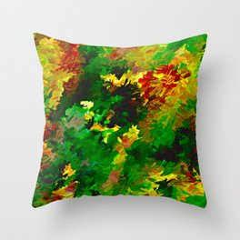 Emerald Forms Abstract Throw Pillow