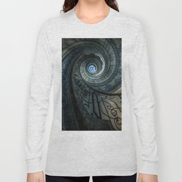 Decorated spiral staircase in blue tones Long Sleeve T-shirt