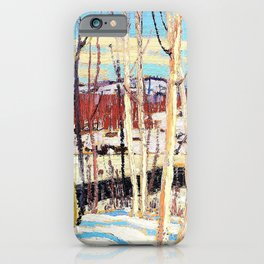 12,000pixel-500dpi - Tom Thomson - Open Water, Joe Creek - Digital Remastered Edition iPhone Case