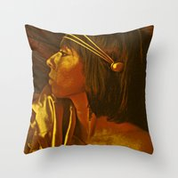 egyptian Throw Pillows featuring Egyptian Princess by MIMeyer