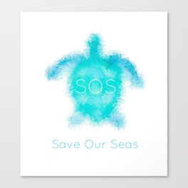 SOS turtle Canvas Print